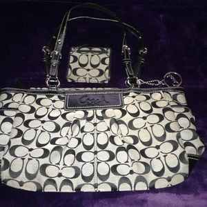 Coach Handbag free wallet with purchase